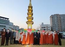[의성]불기 2565년 부처님 오신날 봉축연등탑 점등식 열려